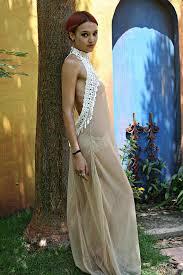honeymoon sleepwear bohemian bridal peacock fringe backless nightgown sheer mesh