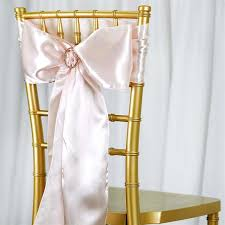 chair sashes 5pc x satin blush chair sash tablecloths factory