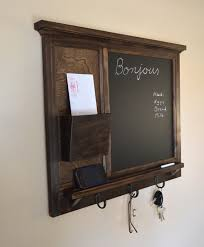 chalkboard mail organizer letter holder key coat hat rack