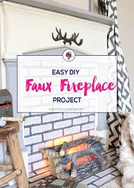 diy faux fireplace chaotically creative
