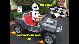 power wheels jeep safest 18v power wheels jeep hurricane modification youtube