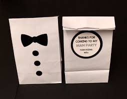 black tie party favors personalized bow tie birthday party treat bags