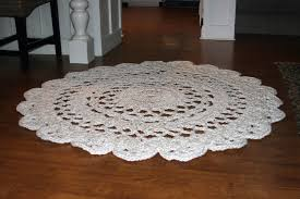 Shabby Chic Area Rugs Large Round Crochet Rug Off White Doily Rug Shabby Chic Area