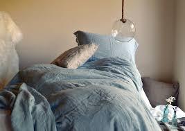 duck egg blue laced linen bedding provincial living