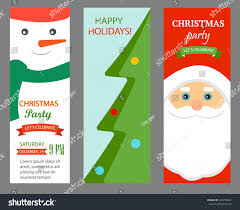 Invitation Cards For Christmas Party Christmas Party Invitations Vertical Banners Set Stock Vector