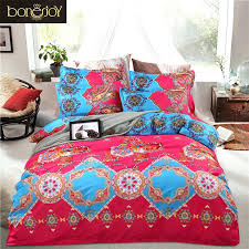 Paisley Pop Duvet Cover Boho Bed Comforter Boho Bed Quilts Turquoise Green Purple And