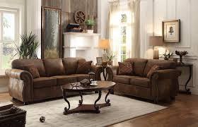 Microfiber Sofa And Loveseat Homelegance 2pcs Corvallis Brown Bomber Jacket Microfiber Sofa Set