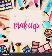 beauty makeup quote royalty free handwritten lettering and cosmetic u2026 584755717 stock