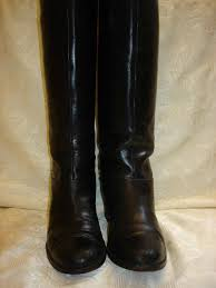 women u0027s christian louboutin black leather chain boots size 38 1 2