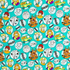 scooby doo wrapping paper scooby doo the cotton calico fabric hobby lobby