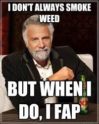 I Don T Always Meme - i don t always smoke weed but when i do i fap
