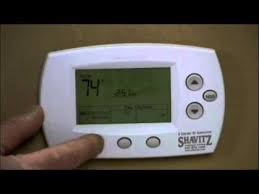 honeywell thermostat 5000 and 6000 programming youtube