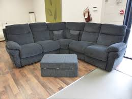 Lazy Boys La Z Boy Tamla Coda Black Corner Sofa And Footstool Furnimax