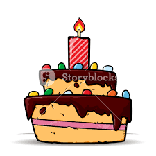 cartoon birthday cake card vector illustration royalty free stock