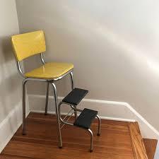 cosco shabby chic kitchen stool yellow