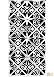 celtic pattern coloring page free printable coloring pages