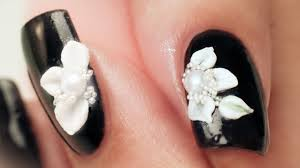 3d acrylic petals nail art step by step tutorial youtube