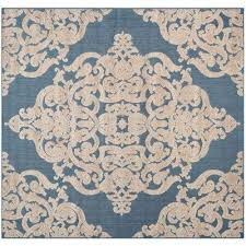 Square Indoor Outdoor Rugs Square Ivory Outdoor Rugs Rugs The Home Depot
