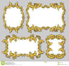 set of ornamental frames stock images image 24381204