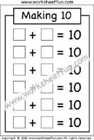 making 5 u2013 one worksheet first grade worksheets pinterest