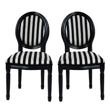 Black Dining Chair Covers Furniture Alluring Black And White Striped Chair Bring