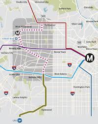 West Adams Los Angeles Map by Crenshaw Line News Urbanize La