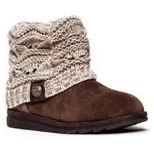 womens knit boots muk luks patti s knit cuff ankle boots polyvore