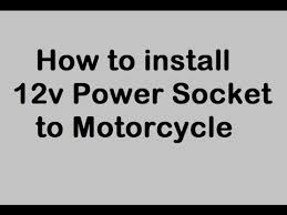 how to install 12v power outlet to motorcycle cigarette lighter