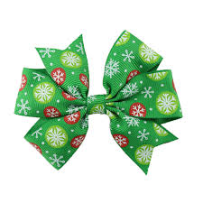 christmas hair accessories christmas hair bow baby girl hair boutique bow