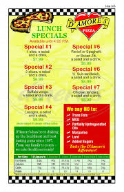 Round Table Pizza Menu Prices by D U0027amores Pizza Menu Thousand Oaks Dineries
