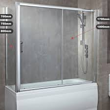 800mm pivot bath screen easy luxury bath screen with single sliding door 6 sizes 8mm