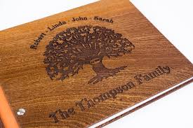 personalized scrapbook albums personalized wooden family photo album scrapbook waldengoods