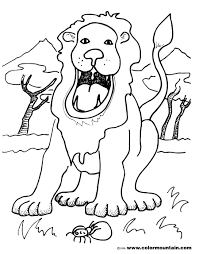 roaring lion coloring sheet create a printout or activity