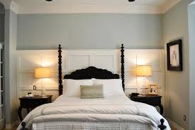 wood paneling makeover ideas painting elegant bedroom with bright bedding set feat wooden