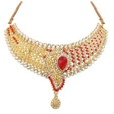 necklace art images Buy soni art red diamond with kundan necklace set jewellery online jpg