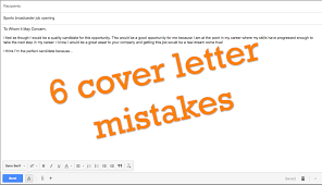 6 common cover letter mistakes sportscasters talent agency of
