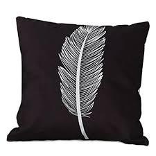 coussin rectangulaire pour canapé housses de coussin canapé angelof taie d oreiller noir et blanc