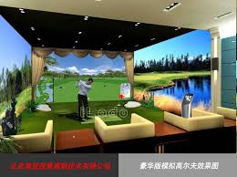 Home Golf Simulator by Circular Screen Golf Simulator Ilodo Beijing Sports Technology