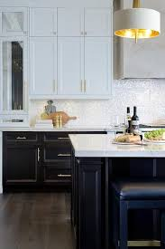 white cabinets brown lower cabinets in kitchen white and brown kitchen features white cabinets and