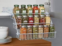 Kitchen Spice Storage Ideas Kitchen Marvelous White Spice Rack Shelf Spice Jar Holder Small