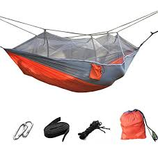 suyi portable folding double parachute camping hammock mosquito