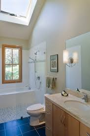 Bathroom Neutral Colors - corner tub shower combo bathroom contemporary with mosaic tiles