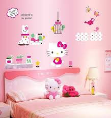 Hello Kitty Wall Mirror Hello Kitty Wall Sticker Decal Girls Room Wall Stickers