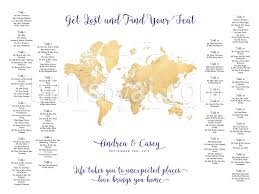 World Map Printable by Travel Themed Wedding U2013 Printable Seating Charts U2013 Blursbyai