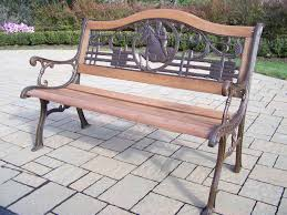 Oakland Living Mississippi Cast Aluminum Oakland Living Animals Cast Iron Horse Bench 6126 2 Ab