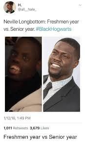 Neville Longbottom Meme - h neville longbottom freshmen year vs senior year blackhogwarts