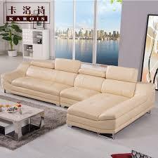 vente d usine de haute qualité en cuir véritable canapé section