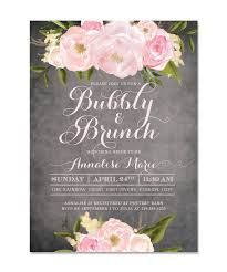 bridal brunch invitations emily bridal shower brunch invitation chalkboard pink roses