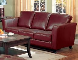 Reddish Brown Leather Sofa Brown Leather Sofa By Coaster 501241
