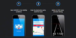 print driving directions from iphone hudway free ultra cool windshield navigation projection ios app